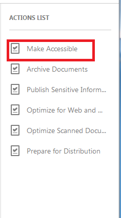 Make Accessible inside of Action Wizard