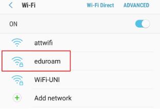 Android eduroam