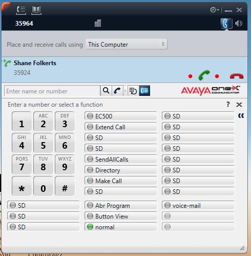 Avaya Answering Call