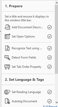 checked tasks in accessibility checker