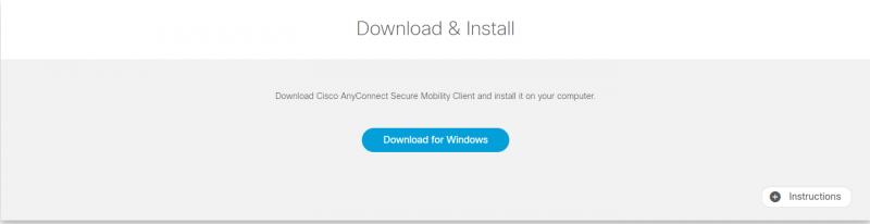 Cisco AnyConnect Windows