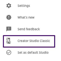 Creator Studio Classic