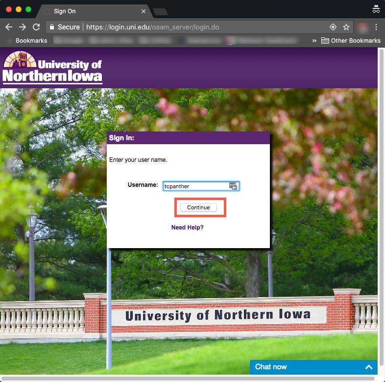 enter your user name on the new ebiz login screen