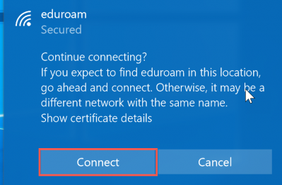 eduroam connect