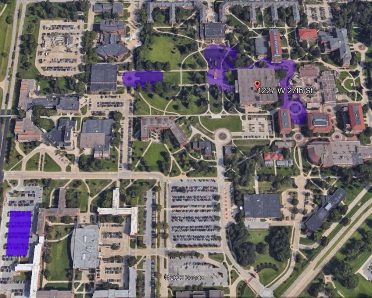 UNI Outdoor Wifi map