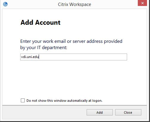 Installing Citrix Workspace and Connecting to the VDI