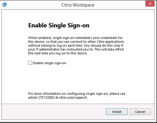 Do not enable single sign-on