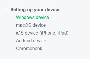 Mobility Print Setting up your device: Windows, macOS, iOS, Android, Chromebook
