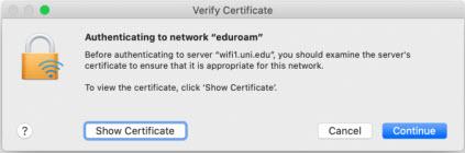macos incommon certificate notice