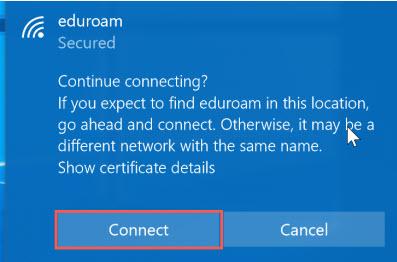 windows 10 incommon certificate notice