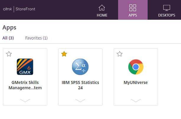 Apps and Desktops Citrix view
