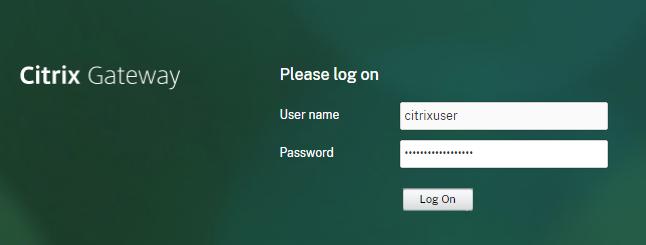 Citrix login