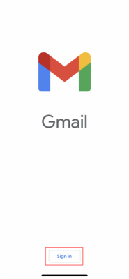ios gmail app sign in screen
