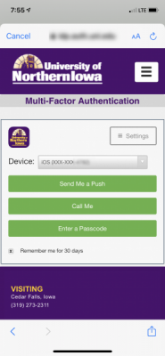 authenticate at the duo prompt