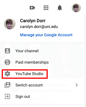 sign in to YouTube Studio