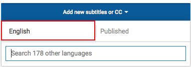 Add new subtitles or CC