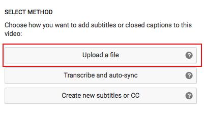 Select Upload a file