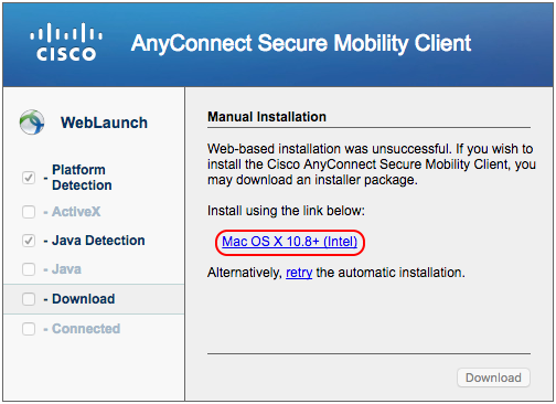 Cisco AnyConnect Mac Client